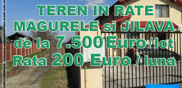 Loturi de Teren in Jilava si Magurele Suprafata = 300-350-500mp Utilitati si Amenajari = Gaz, Electricitate, Canalizare, Asfalt Conditii de plata in Rate pentru Lot 300 mp Avans = 3.500 Euro Rata 200 Euro x […]