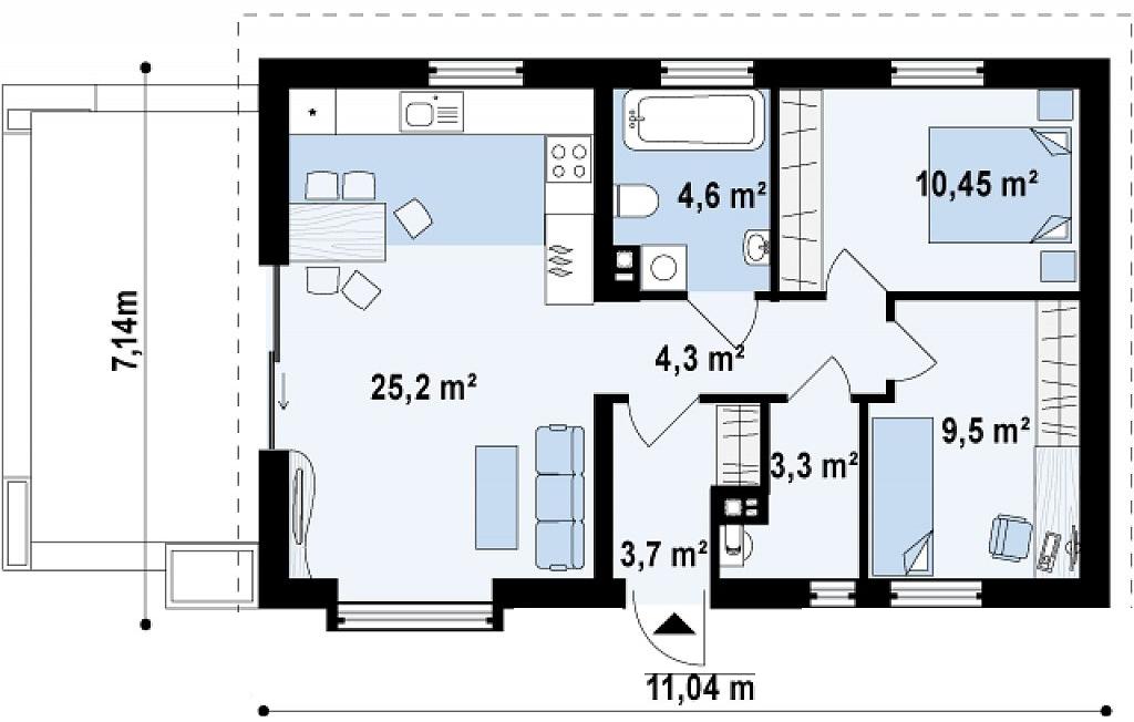 10 Foot By 25 Foot Floor Plan