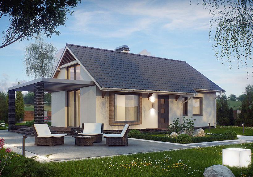 Proiect de casa ieftina cod 210931 parter 3 camere for Case parter