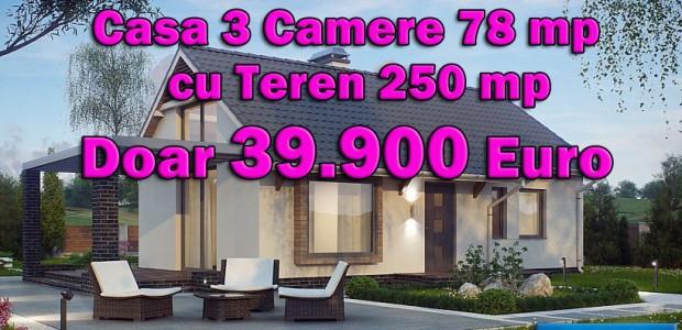 O oferta ce nu are concurenta, platiti doar 39.900 Euro pentru o Casa de 3 Camere si teren de 250 mp, in Bucuresti sau Ilfov. Casa este construita din materiale clasice: Beton Armat, Caramida sau […]