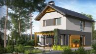 Pret proiect =1.149 Euro Descrierea proiectului Living cu Bucatarie Deschisa, 3 Dormitoare si 2 Bai Suprafata utila: 94 m² Suprafata construita: 128 m² Inaltime: 8.12 m Pret constructie la rosu (aproximativ): 28.160 Euro (220Euro/m² construit) […]