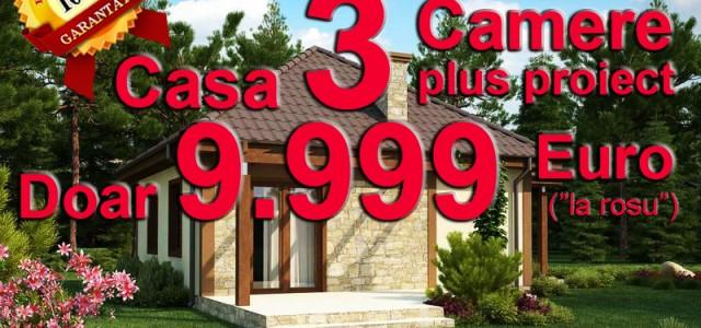 """Casa 3 camere si suprafata 53 mp la incredibilul pret de 9.999 Euro (pentru varianta """"la rosu""""). Va oferim casa """"pe pamant"""" realizata din structura clasica de fier beton, zidarii de BCA si acoperis de […]"""