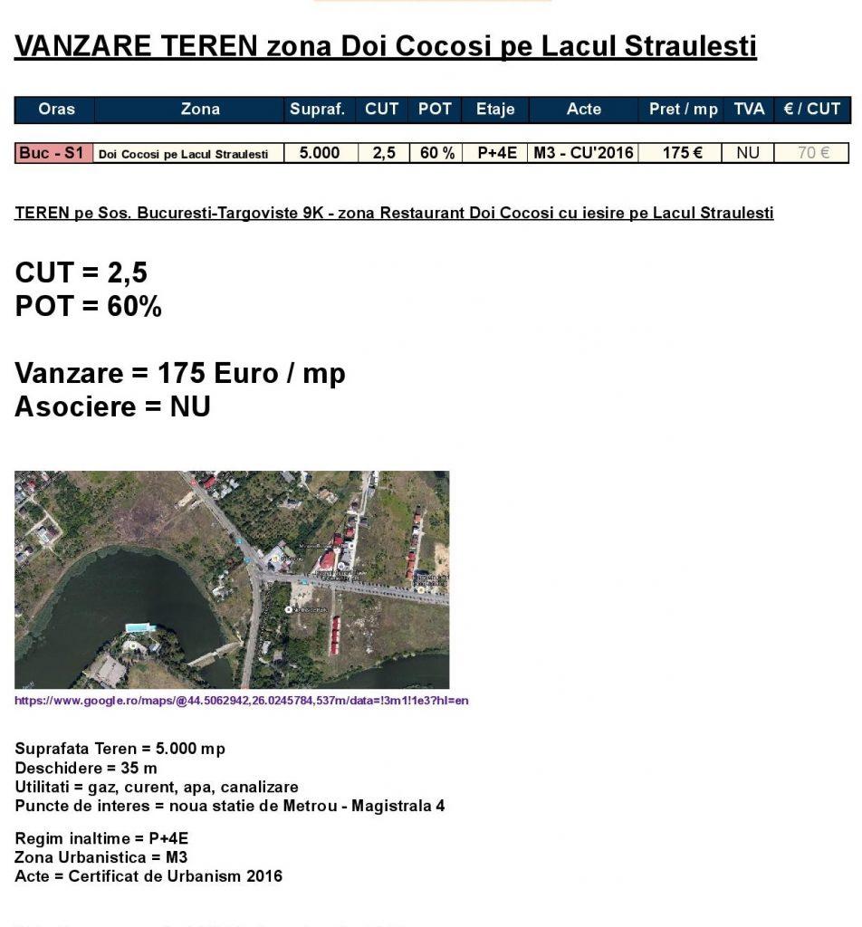 S1 - Doi Cocosi pe Lacul Straulesti = 5.000 mp